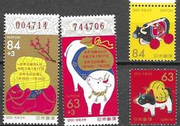 JAPAN, 2021, MNH, YEAR OF THE BULL, 4v - Chinese New Year