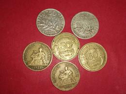 2 X 50 Centimes ARGENT SEMEUSE 1909 ET 1898 ET AUTRES Non Nettoyé - G. 50 Centesimi