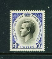 MONACO  -  1955 Prince Ranier III 30f Unmounted Never Hinged Mint - Unused Stamps