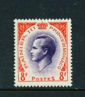 MONACO  -  1955 Prince Ranier III 8f Unmounted Never Hinged Mint - Unused Stamps