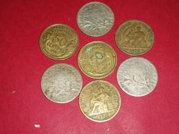 3 X 50 Centimes ARGENT SEMEUSE 1906 1907 ET 1913 ET AUTRES Non Nettoyé - G. 50 Centesimi