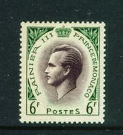 MONACO  -  1955 Prince Ranier III 6f Unmounted Never Hinged Mint - Unused Stamps