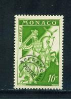 MONACO  -  1954 Precancel 10f Unmounted Never Hinged Mint - Unused Stamps