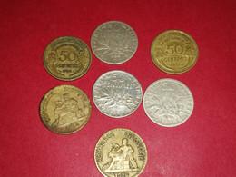 3 X 50 Centimes ARGENT SEMEUSE 1901 B 1908 B ET 1915 TTB ET AUTRES Non Nettoyé - G. 50 Centesimi