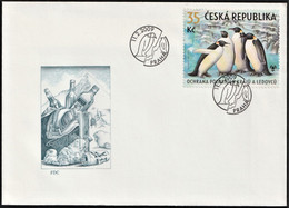 2009 Czech Republic Preservation Of Polar Regions And Glaciers: Emperor Penguin FDC - Preserve The Polar Regions And Glaciers