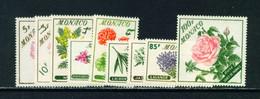 MONACO  -  1959 Flowers Set Never Hinged Mint - Unused Stamps