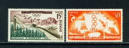MONACO  -  1956 Winter Olympics Set Never Hinged Mint - Unused Stamps