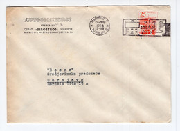 1964. YUGOSLAVIA,SLOVENIA,LJUBLJANA TO SARAJEVO,AUTOCOMMERCE,HEADED COVER,FLAM:TT FOR EVERY HOUSE - Brieven En Documenten