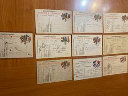 Lot De 10 Cartes - Correspondance Militaire - Carte En Franchise - Militaire Kaarten Met Vrijstelling Van Portkosten