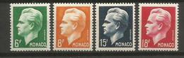 Timbre Monaco  En Neuf *  N 365 / 368 Séries Compléte - Unused Stamps