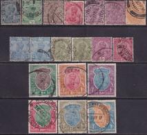 INDIA 1926-29 SG #201-19 Compl.set Incl. Both Shades Of 3a Used CV £110 Wmk Mult.Star - 1911-35 King George V