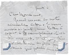 L.A.S. JEANNE METTE DITE JANE CATULLE MENDES POETESSE ECRIVAINE - AUTOGRAPHE SIGNATURE - Autógrafos