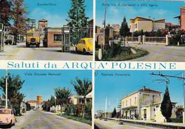 ARQUÀ POLESINE-ROVIGO-SALUTI DA..4 IMMAGINI-STAZIONE FERROVIARIA-ZUCCHERIFICIO--CARTOLINA NON VIAGGIATA 1970-1980 - Rovigo