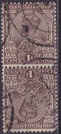 INDIA 1932 SG #203a 1a Used In Vert. Tête-bêche Pair - 1911-35 King George V