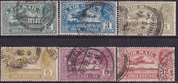 INDIA 1929 SG #220-25 Compl.set Used Airmail - 1911-35 King George V
