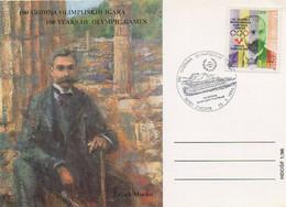 1996Intero Postale Della Croazia Con Annullo Speciale Per I 100 Anni Dei Giochi Olimpici - Otros