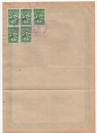 1960 YUGOSLAVIA,SERBIA,KOSOVO,5 X KOSOVSKA MITROVICA MUNICIPALITY STAMPS,1 STATE REVENUE,CITIZENSHIP CERTIFICATE - Brieven En Documenten