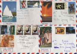 Polynesie - Lot De 4 Lettres - Mahina - Arue - Pirae - Covers & Documents