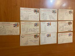Lot De 10 Cartes - Correspondance Des Armées De La République - Carte En Franchise - Militaire Kaarten Met Vrijstelling Van Portkosten