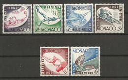 Timbre Monaco  En Neuf *  N 386/391 Séries Compléte - Unused Stamps