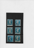 Lot Timbres Belle Obl (piquage A Cheval.....),    N:  22  Année 1862 - 1862 Napoleon III