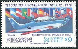 Chile Chili 1984 FIDA84 Air Exhibition First Plane Home-constructed Piper Pillan - Aerei