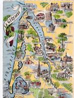 CPSM Dentelée Carte Géographique De La Gironde - Maps