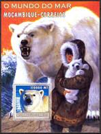 {M96} Mozambique 2002 Marine Life Polar Bears S/S MNH** - Mosambik