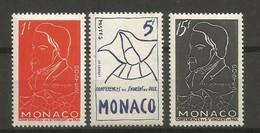 Timbre Monaco  En Neuf **  N 399/401 - Unused Stamps