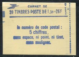 FRANCE - CARNET N° 2059 -C 4  - CONF. 8 -  * *  - CD DU 6.  22/8/79 AVEC RE - COMPLET FERME & LUXE - Definitives