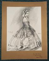 BAC Ferdinand (1859-1952), Dessin Original De MONTIJO Manuela, Mère De L'Impératrice Eugénie - Drawings