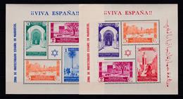 MARRUECOS 1937 - Hojas Bloque De Sellos Tipos 1935-37 Nuevas Sin Fijasellos Edifil Nº 167/168 -MNH- BUENA CALIDAD - Spanish Morocco
