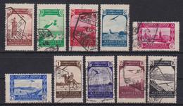 MARRUECOS 1938 - Paisajes Serie Completa Matasellada Edifil Nº 186/195 - Spanish Morocco