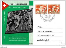 """97 - 31 - Carte Avec Oblit Spéciale """"Journée Du Timbre 1956 St Gallen"""" - Poststempel"""
