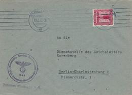 Dienst NSDAP Gau Süd-Hannover Braunschweig 19.3.1942 > Dienststelle Reichsleiter Rosenberg Bismarck-Strasse Berlin - Officials