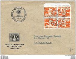 """97 - 54 - Enveloppe Avec Rare Oblit Spéciale """"Match D'ouverture WM54 Lausanne 1954"""" - 1954 – Zwitserland"""