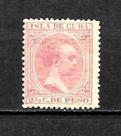 LOTE 2173 /// CUBA 1894 EDIFIL Nº: 132 *MH // CATALOG/COTE: 0,95€ ¡¡¡ OFERTA - LIQUIDATION - JE LIQUIDE !!! - Cuba (1874-1898)