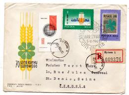 POLOGNE-1965-Lettre Recommandée De BYTOM Pour St Denis (France).timbres  Recto-verso ..cachets .. - Covers & Documents