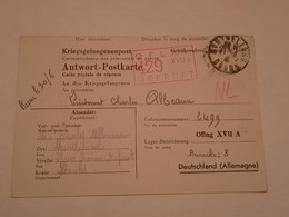 Carte Prisonnier De Guerre Oflag XVII A Doellersheim Goepfritz 1941 - 1939-45