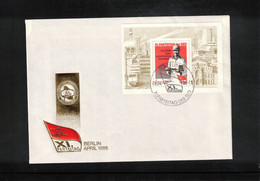 Deutschland / Germany 1986 XI.Parteitag Michel Block 83 FDC - FDC: Briefe