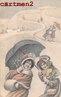 ILLUSTRATEUR BONNE-ANNEE V.K. VIENNE 5058 VIENNOISE HIVER - Ante 1900