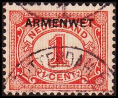 1913-1918. NEDERLAND. ARMENWET On 1 CENT.  (Michel Di. 1) - JF413256 - Dienstpost