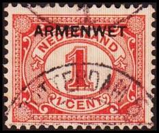 1913-1918. NEDERLAND. ARMENWET On 1 CENT.  (Michel Di. 1) - JF413256 - Officials