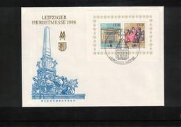 Deutschland / Germany 1986 Leipziger Herbstmesse Michel Block 85 FDC - FDC: Briefe