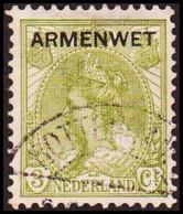 1913-1918. NEDERLAND. ARMENWET On 3 CENT.  (Michel Di. 2) - JF413261 - Dienstpost