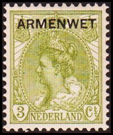 1913-1918. NEDERLAND. ARMENWET On 3 CENT. Hinged. (Michel Di. 2) - JF413262 - Officials