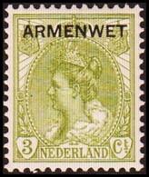 1913-1918. NEDERLAND. ARMENWET On 3 CENT. Hinged. (Michel Di. 2) - JF413262 - Dienstpost
