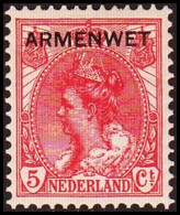 1913-1918. NEDERLAND. ARMENWET On 5 CENT. Hinged. (Michel Di. 7) - JF413264 - Dienstpost