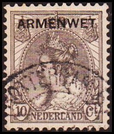 1913-1918. NEDERLAND. ARMENWET On 10 CENT. Thin. (Michel Di. 8) - JF413265 - Officials