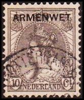 1913-1918. NEDERLAND. ARMENWET On 10 CENT. Thin. (Michel Di. 8) - JF413265 - Dienstpost